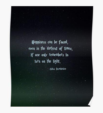 Harry Potter, Dumbledore quote Poster