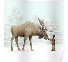 Boy and Moose Poster