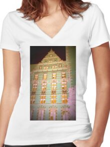 architecture photo Women's Fitted V-Neck T-Shirt