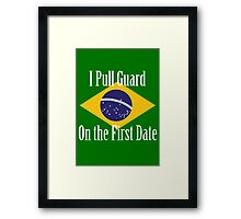 First Date BJJ (White) Framed Print