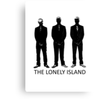 The Lonely Island Silhouette Canvas Print