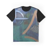 Blue Texture for Art Graphic T-Shirt