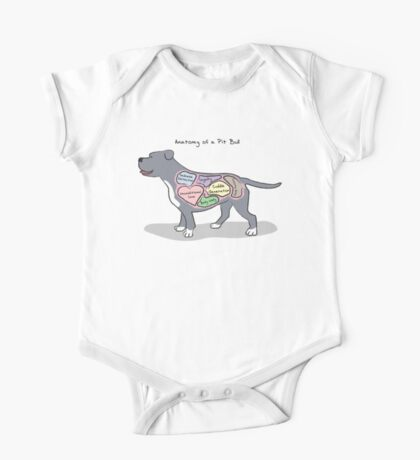 Anatomy of a Pit Bull One Piece - Short Sleeve