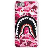 Shark Bape Camo Pink iPhone Case/Skin