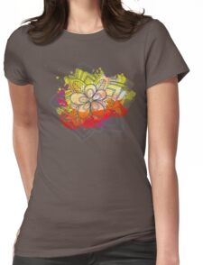 Flower of Power Womens Fitted T-Shirt