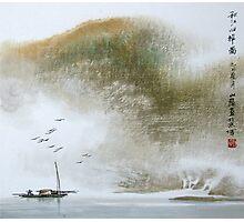Misty Boat Photographic Print