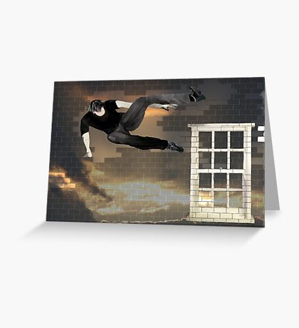 just another parkour in the wall Greeting Card