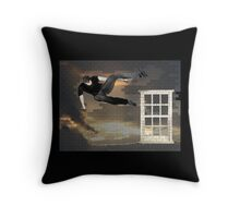 just another parkour in the wall Throw Pillow