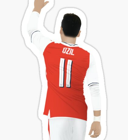 Mesut Ozil Minimalist Digital Drawing  Sticker