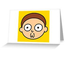 Morty Face Greeting Card