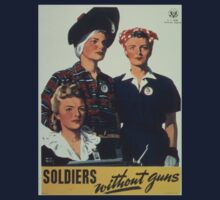 Vintage poster - Soldiers without guns Kids Tee