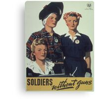 Vintage poster - Soldiers without guns Canvas Print