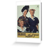 Vintage poster - Soldiers without guns Greeting Card