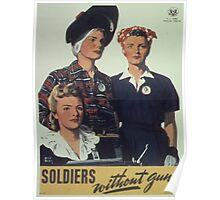 Vintage poster - Soldiers without guns Poster