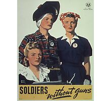 Vintage poster - Soldiers without guns Photographic Print