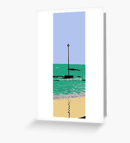 artistic licence on the sea, summer sun and seaside  Greeting Card
