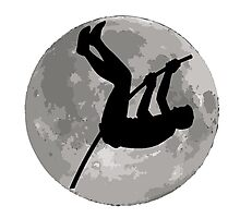 Pole Vaulter Moon Photographic Print