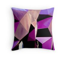 Geometrically Purple Throw Pillow