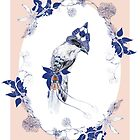 Magpie Bird Artprint by lascarlatte