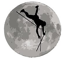 Pole Vaulter Moon by kwg2200