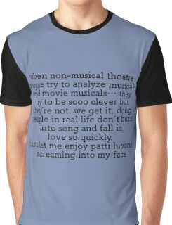Non Musical Theatre People Graphic T-Shirt