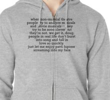 Non Musical Theatre People Zipped Hoodie