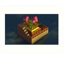 [Low Poly] Impossible Garden Art Print