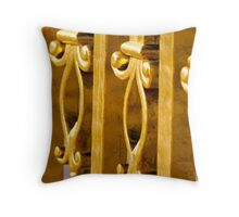 Elegantly Gold Throw Pillow