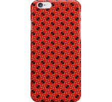 Red Black Geometric Patterns iPhone Case/Skin