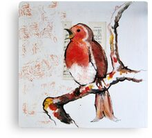 Robin Sings a Song Canvas Print
