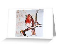 Robin Sings a Song Greeting Card