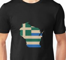 Greek WI (Green/Wheat/Blue) Unisex T-Shirt