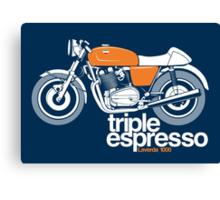 Triple Espressoo Laverda 3CE Cafe Racer Canvas Print