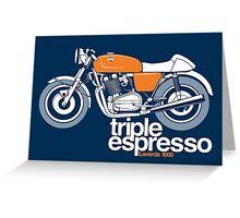 Triple Espressoo Laverda 3CE Cafe Racer Greeting Card