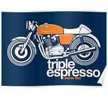 Triple Espressoo Laverda 3CE Cafe Racer Poster