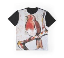 Robin Sings a Song Graphic T-Shirt