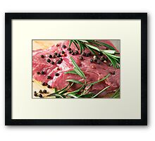 Tenderloin of raw beef Framed Print