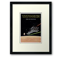 Far, far away... Episode IV - Tatooine Framed Print