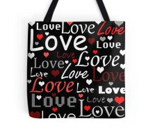 Red love pattern Tote Bag