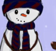 snowman and bunny Sticker
