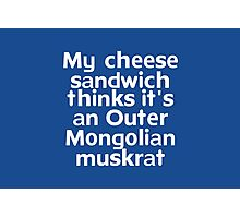 My cheese sandwich thinks it's an Outer Mongolian muskrat Photographic Print
