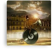 Music Man in the City Canvas Print