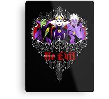 Three Wise Villains (black) Metal Print