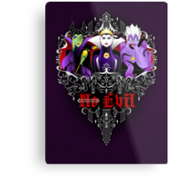 Three Wise Villains (Purple) Metal Print