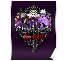 Three Wise Villains (Purple) Poster