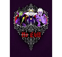 Three Wise Villains (Purple) Photographic Print