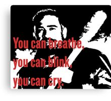 Negan: You Can Cry Quote Canvas Print