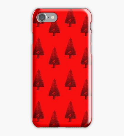Red Pine Tree iPhone Case/Skin