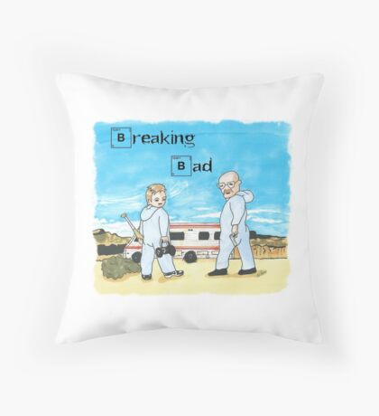 White y Pinkman Throw Pillow
