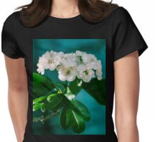 White Flower Blossoms Womens Fitted T-Shirt